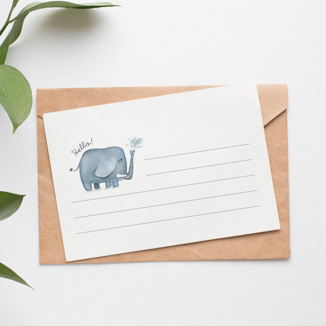 Elephant Mini Card